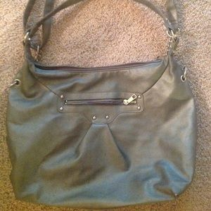 "Icing Gray Shoulder Tote Handbag 17.5""x12"""